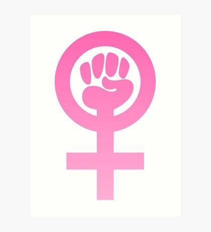 vit bakgrund, rosa kvinnokampssymbol
