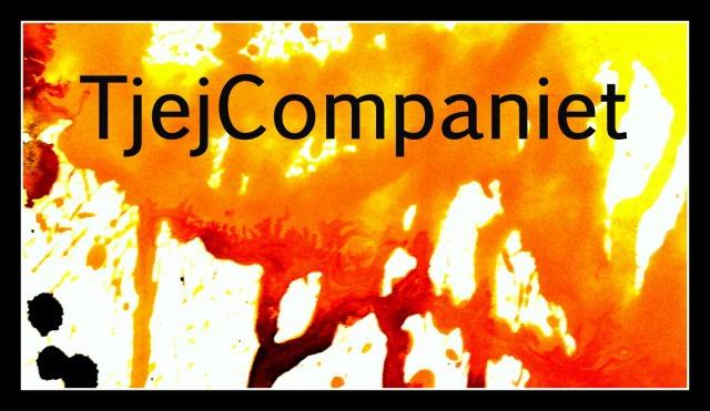 Foto: Tjejcompaniet skriver över orange/röd bakgrund