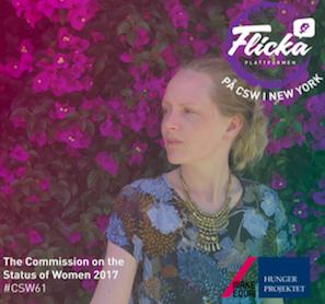 Frida Hasselblad, VD Make Equal (en av Flickaplattformens ägarorganisationer)